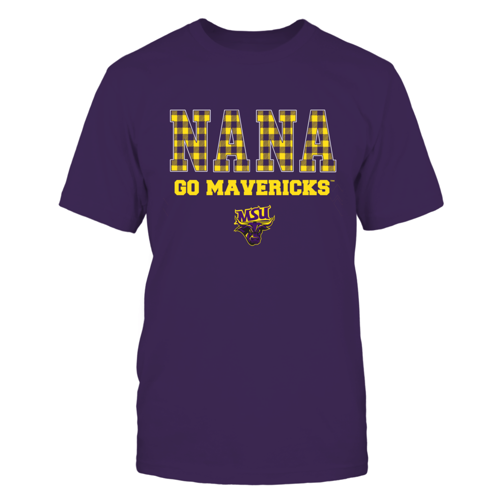 Minnesota State Mavericks - Checkered Pattern - Slogan - Nana Front picture