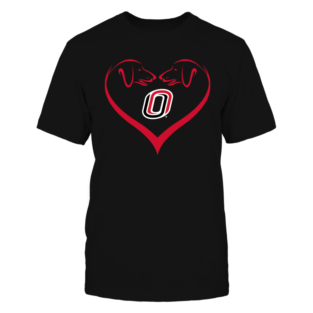 Nebraska Omaha Mavericks - Dog Heart Shape - Team Front picture