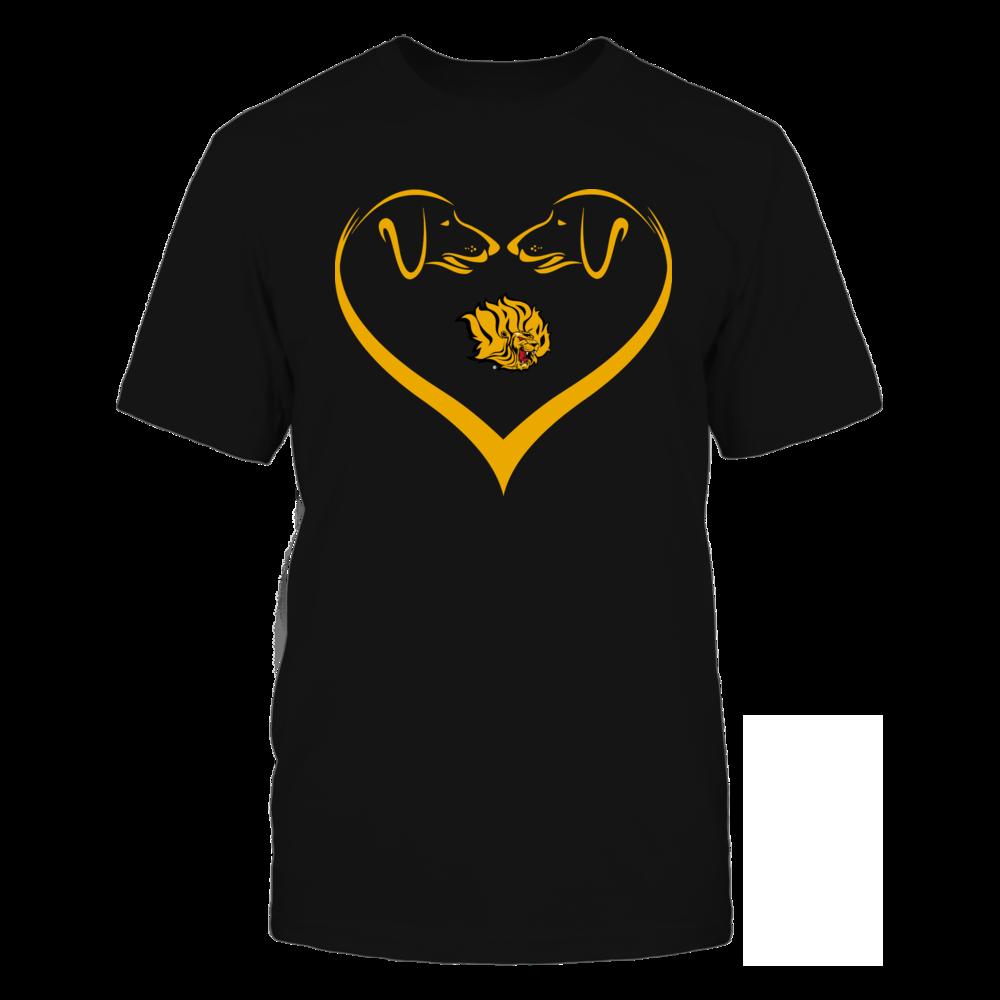 Arkansas Pine Bluff Golden Lions - Dog Heart Shape - Team Front picture
