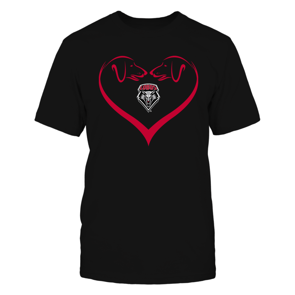 New Mexico Lobos - Dog Heart Shape - Team Front picture