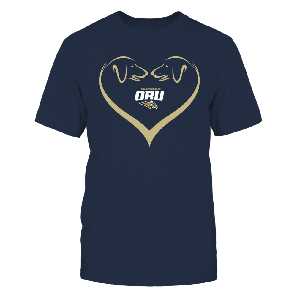 Oral Roberts Golden Eagles - Dog Heart Shape - Team Front picture