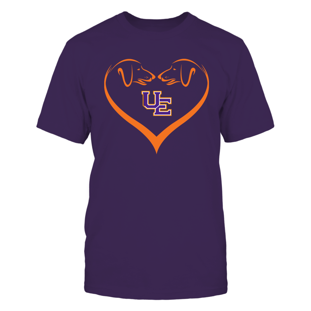 Evansville Purple Aces - Dog Heart Shape - Team Front picture
