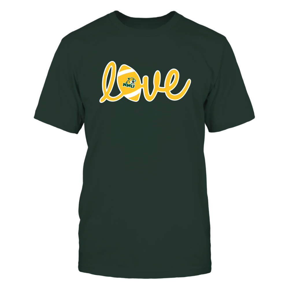 Northern Michigan Wildcats - Lowercase Love - Football Front picture