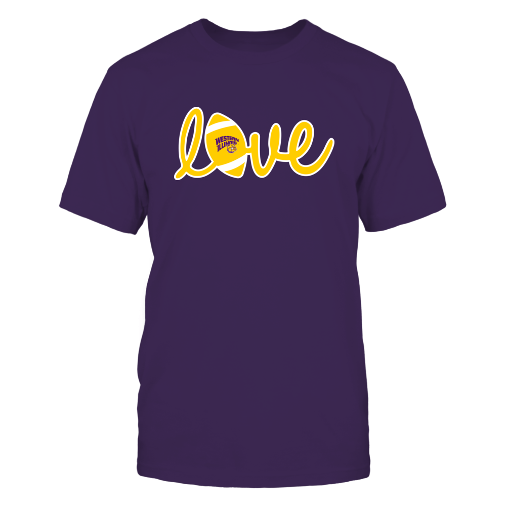 Western Illinois Leathernecks - Lowercase Love - Football Front picture