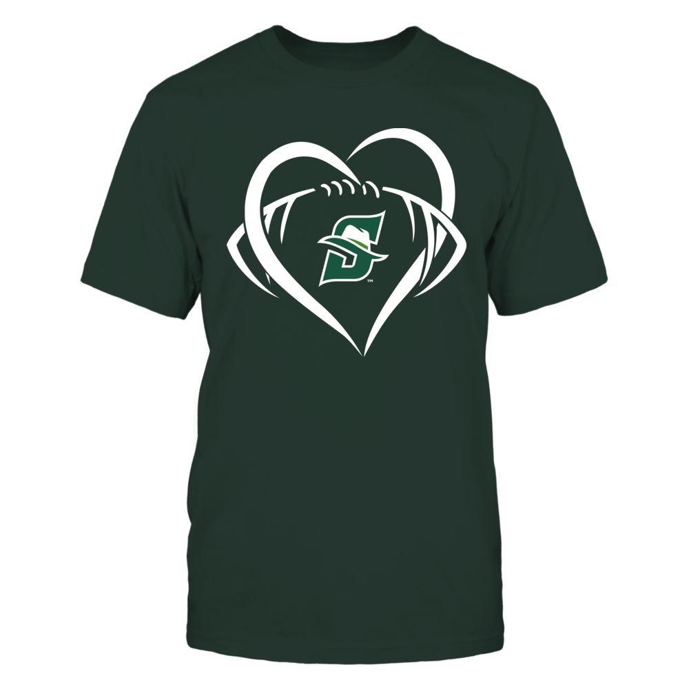 Stetson Hatters - Large Heart - Football - Team Front picture