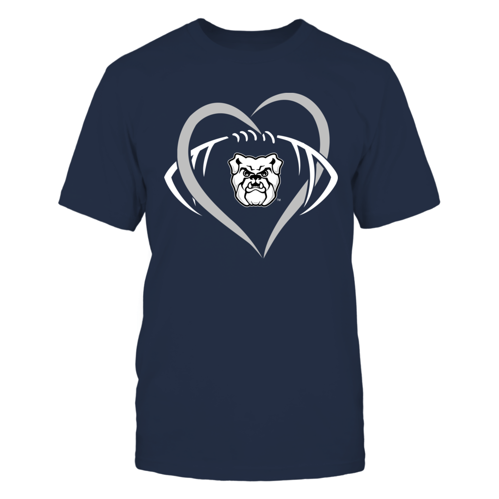 Butler Bulldogs - Large Heart - Football - Team Front picture