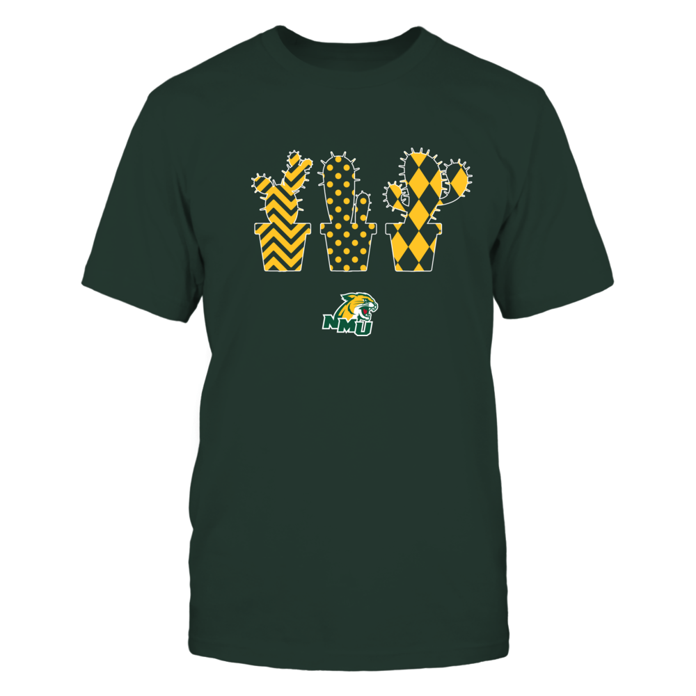 Northern Michigan Wildcats - Patterned Cactus Pots - Team Front picture