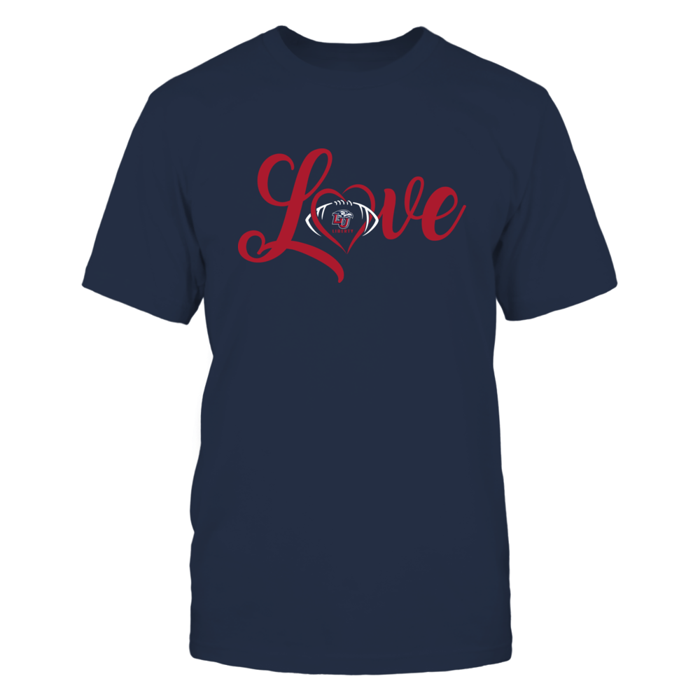 Liberty Flames - Love Heart - Football - Team Front picture