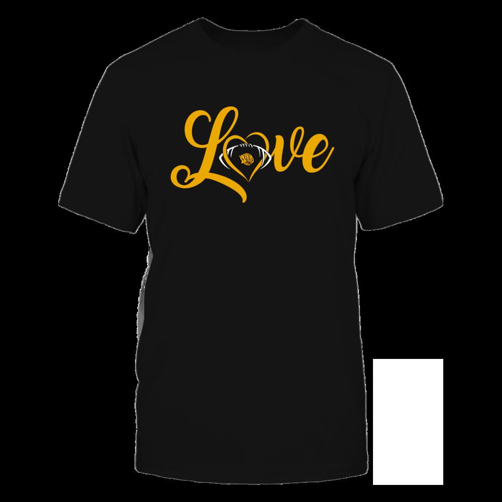 Arkansas Pine Bluff Golden Lions - Love Heart - Football - Team Front picture