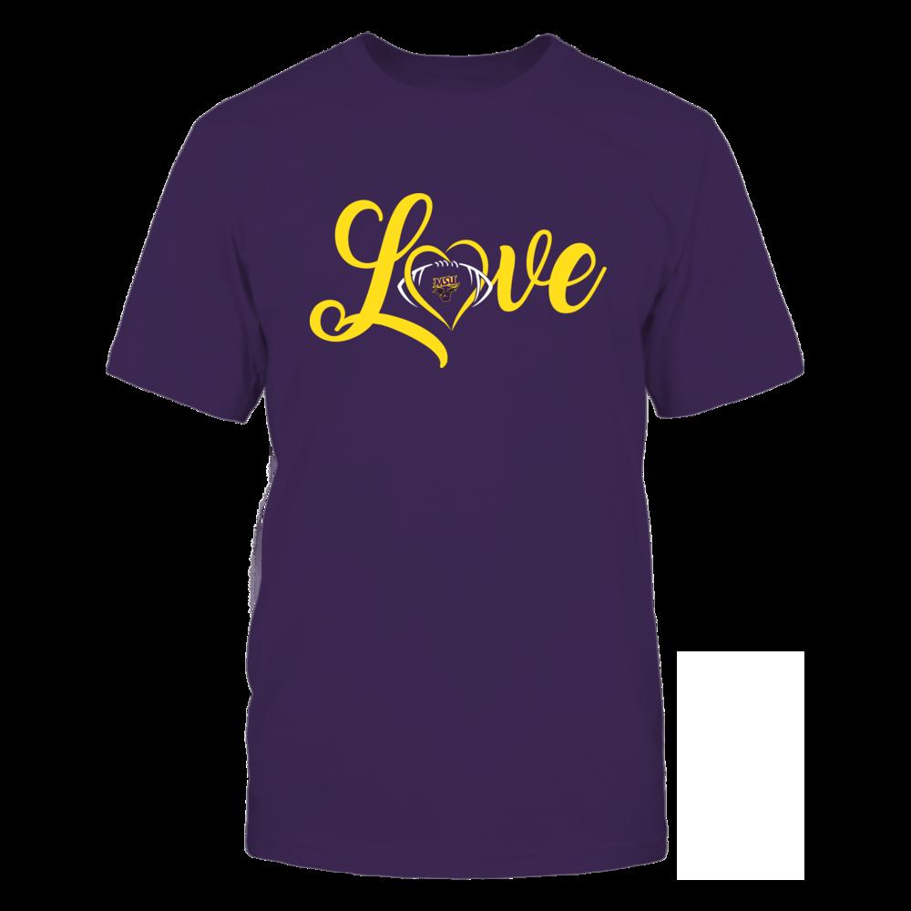 Minnesota State Mavericks - Love Heart - Football - Team Front picture