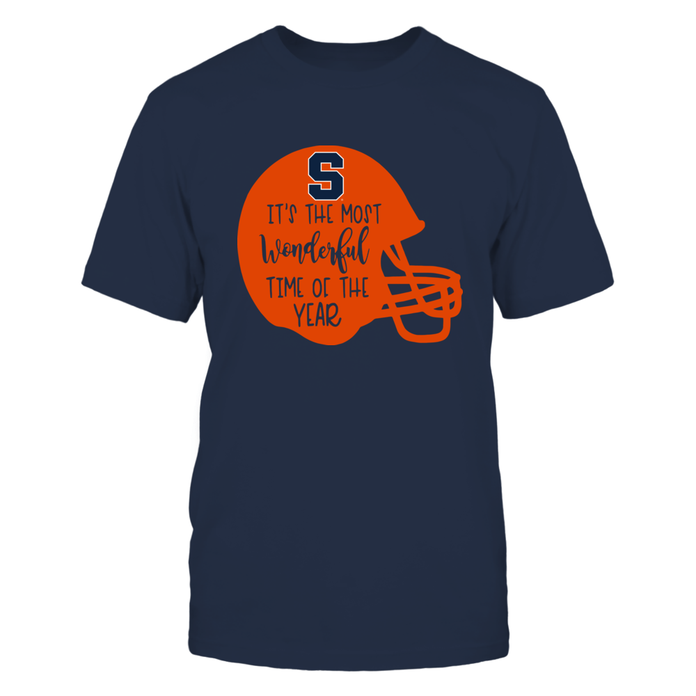 Syracuse Orange - Most Wonderful Time of the Year - Football Helmet Front picture