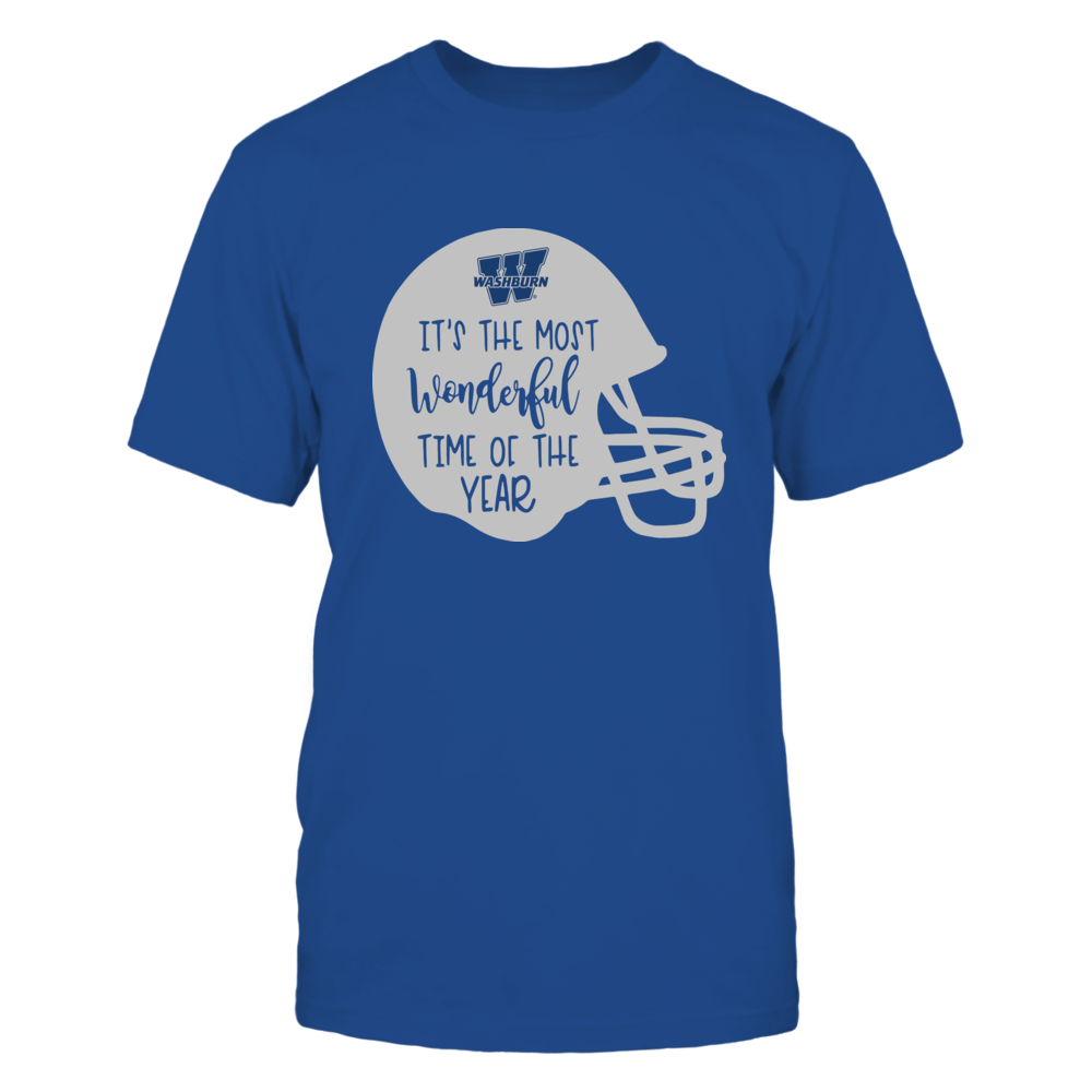 Washburn Ichabods - Most Wonderful Time of the Year - Football Helmet Front picture