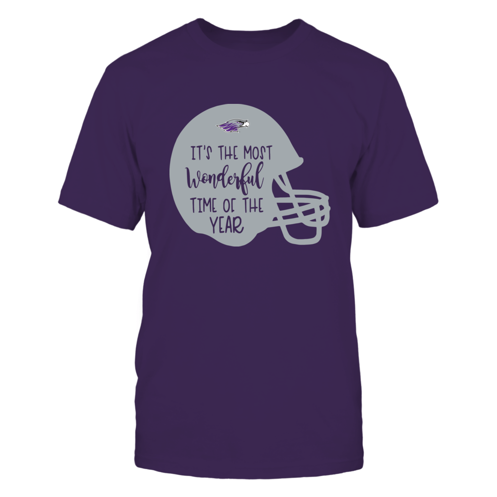 Wisconsin-Whitewater Warhawks - Most Wonderful Time of the Year - Football Helmet Front picture