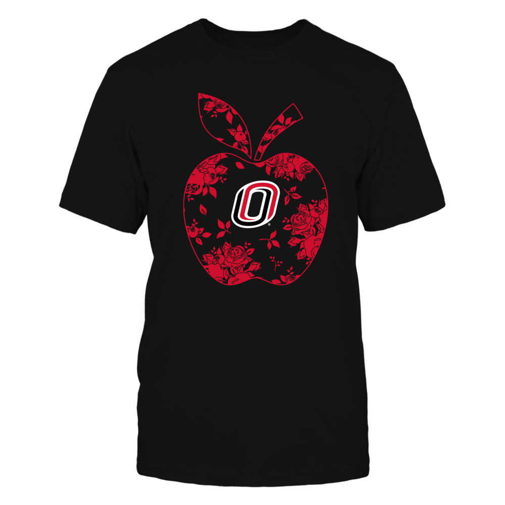 Nebraska Omaha Mavericks - Teacher - Floral Apple - Team - Solid Front picture