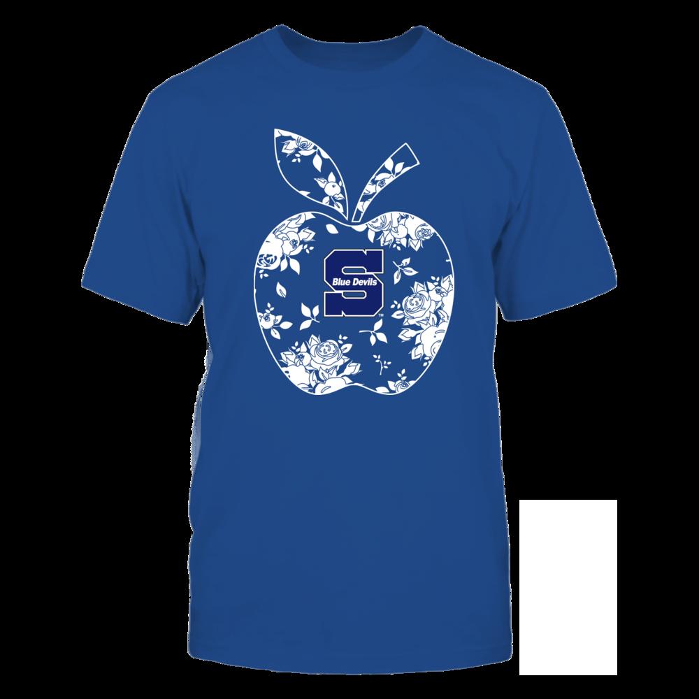 Wisconsin Stout Blue Devils - Teacher - Floral Apple - Team - Solid Front picture