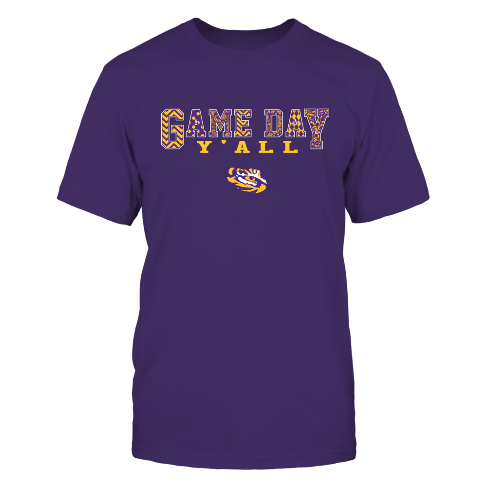 LSU Tigers - Game Day Y'all Slogan Pattern - IF17-IC17-DS83 Front picture