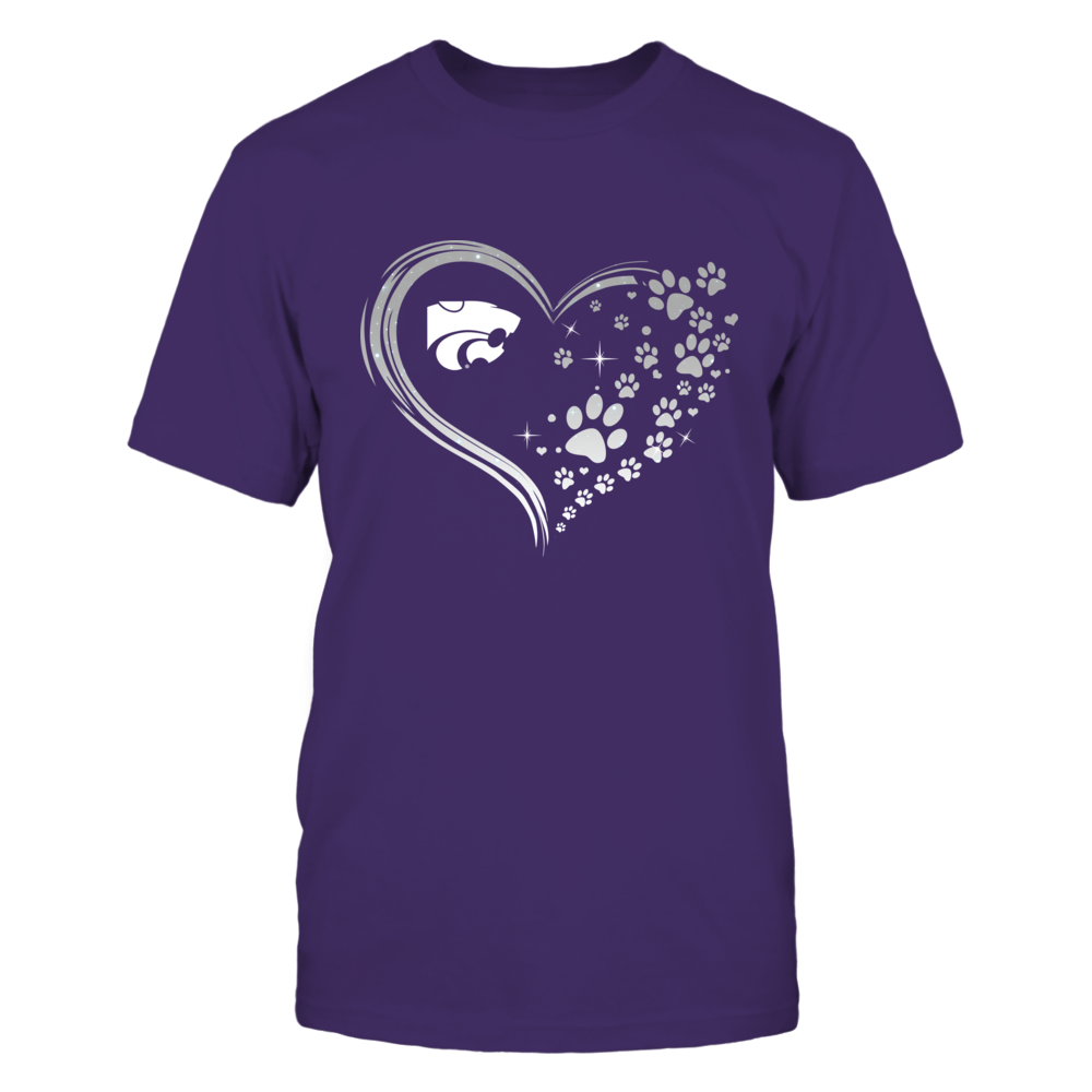Kansas State Wildcats - Beautiful Heart - Paw - IF13-IC13-DS63 Front picture