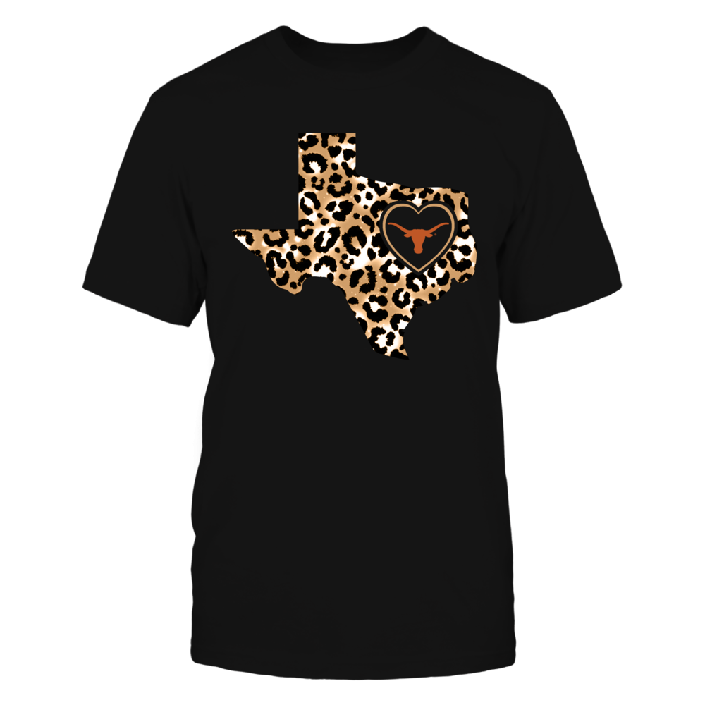 Texas Longhorns - Leopard State Map - IF17-IC17-DS64 Front picture