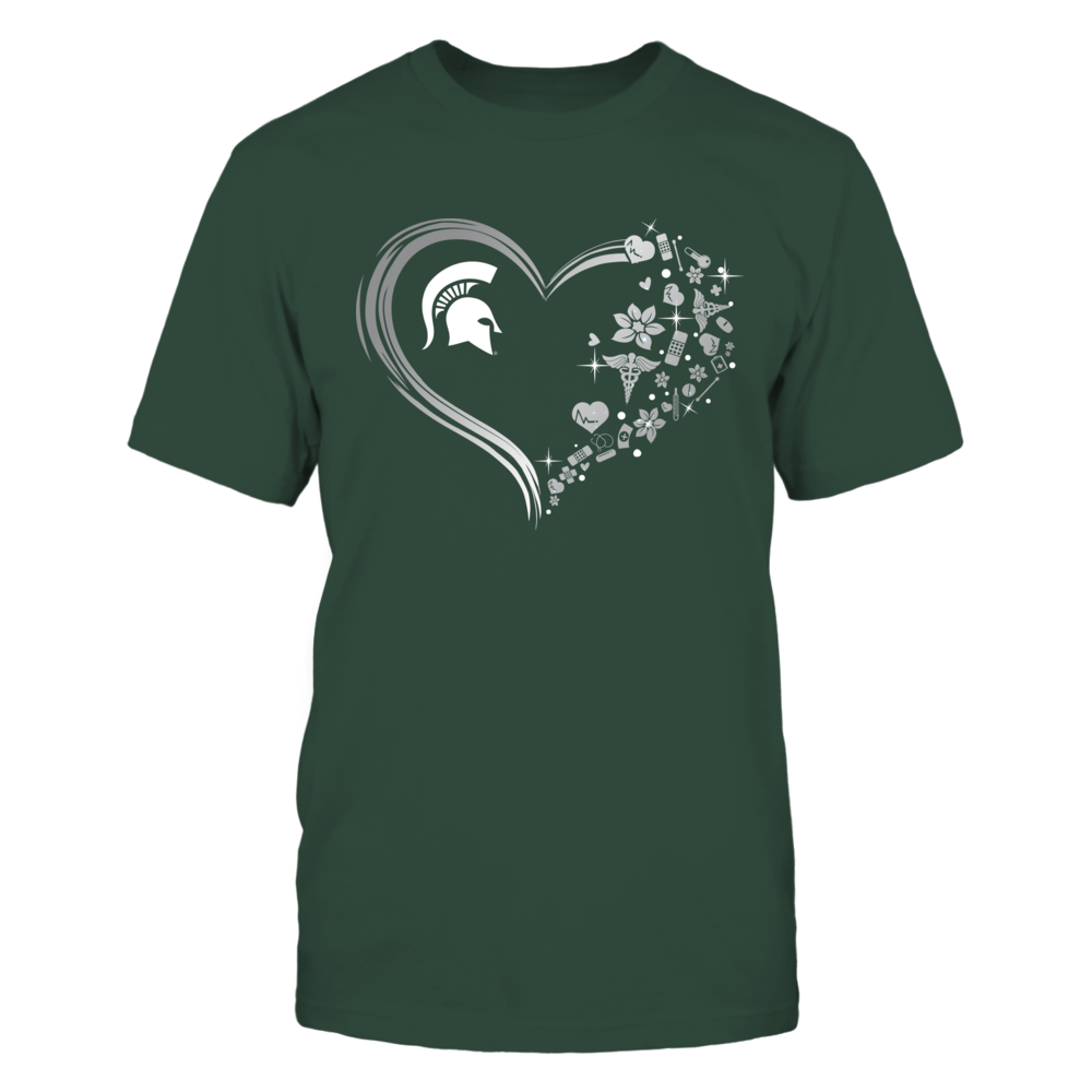Michigan State Spartans - Beautiful Heart - Nurse Things - IF13-IC13-DS45 Front picture