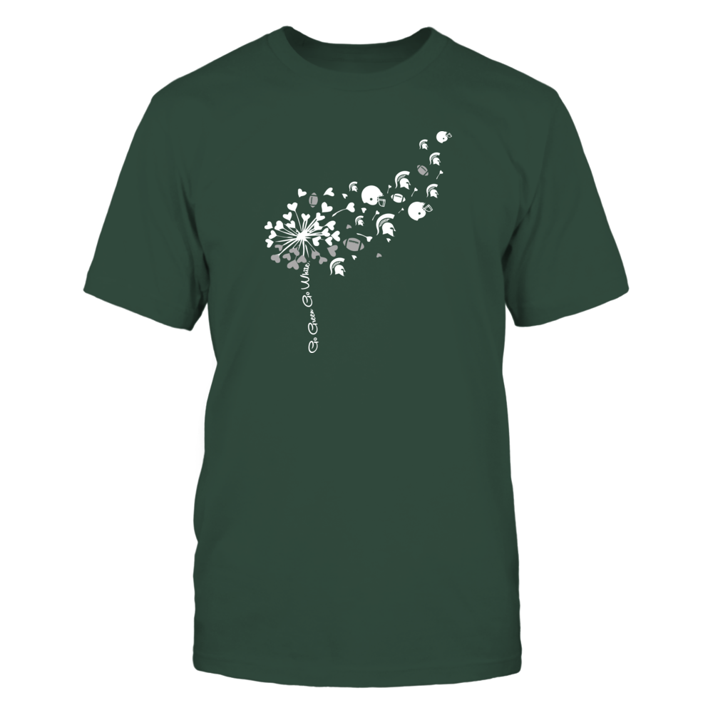 Michigan State Spartans - Dandelion - Slogan - Logo And Football Things - IF13-IC13-DS64 Front picture