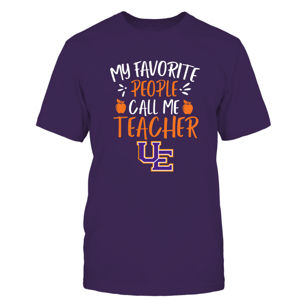 Evansville Purple Aces - My Favorite People Call Me Teacher - Team Front picture