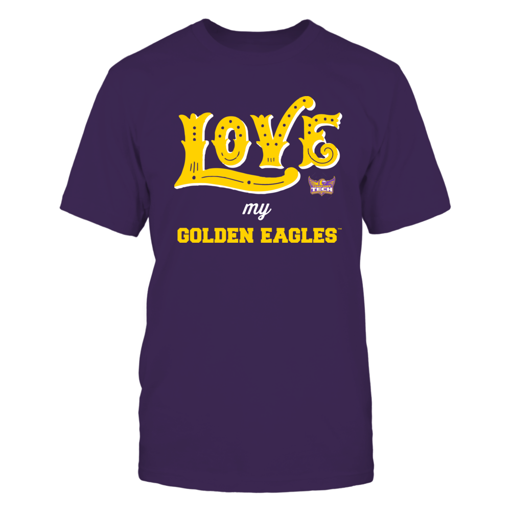Tennessee Tech Golden Eagles - Love My Team - Hand Draw - Team Front picture