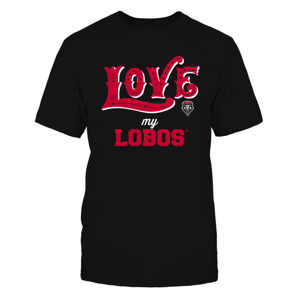 New Mexico Lobos - Love My Team - Hand Draw - Team Front picture