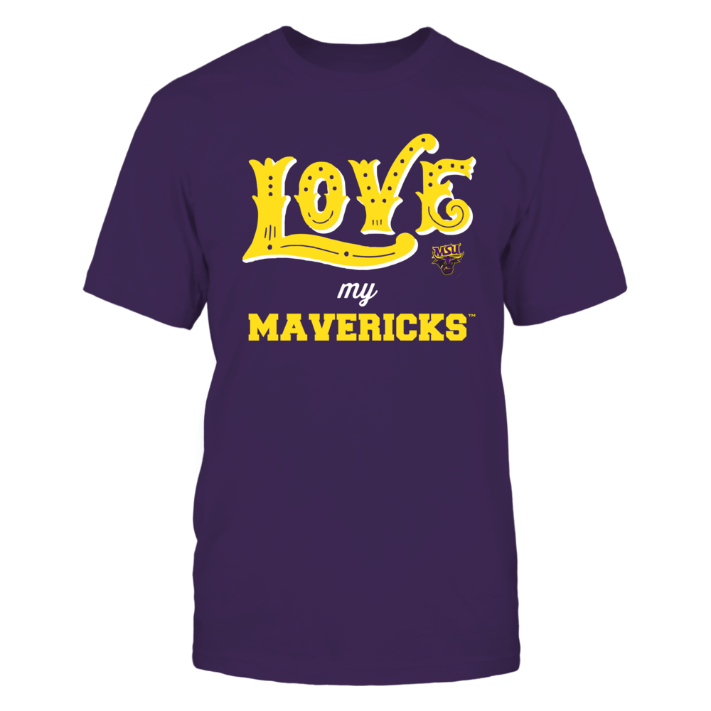 Minnesota State Mavericks - Love My Team - Hand Draw - Team Front picture