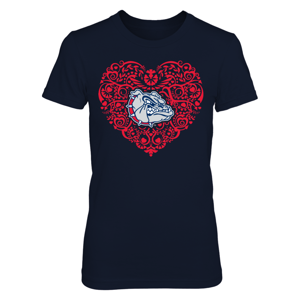 Gonzaga Bulldogs - Heart Floral Love Front picture