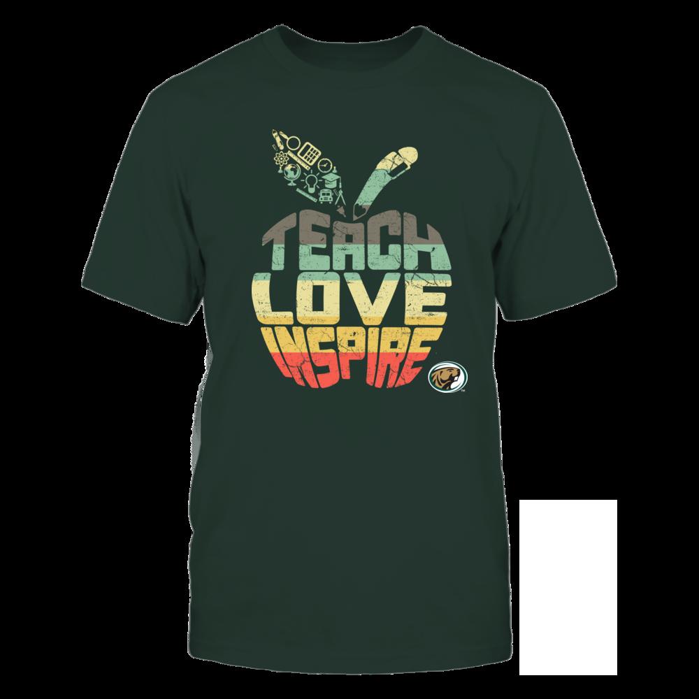 Bemidji State Beavers - Teach Love Inspire - Vintage Apple Front picture