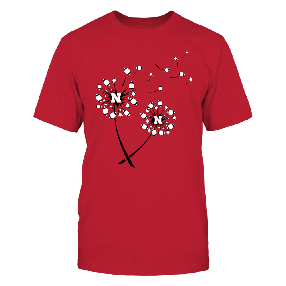 Nebraska Cornhuskers - Dandelion - Football - Red Shirt - IF13-IC13-DS37 Front picture
