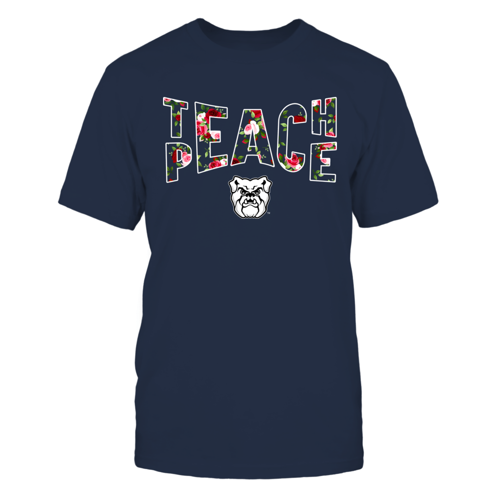 Butler Bulldogs - Teach Peace Floral Pattern Front picture