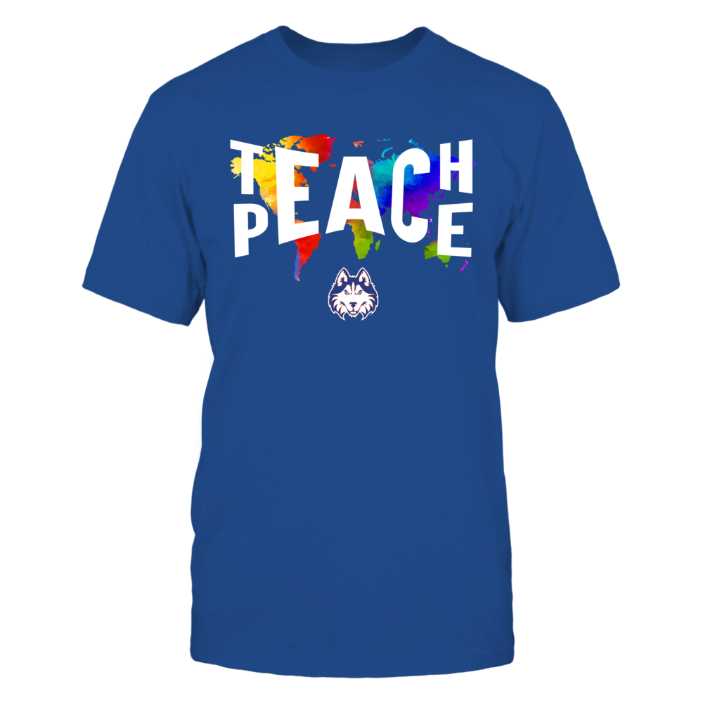Houston Baptist Huskies - Teach Peace Color Drop Front picture