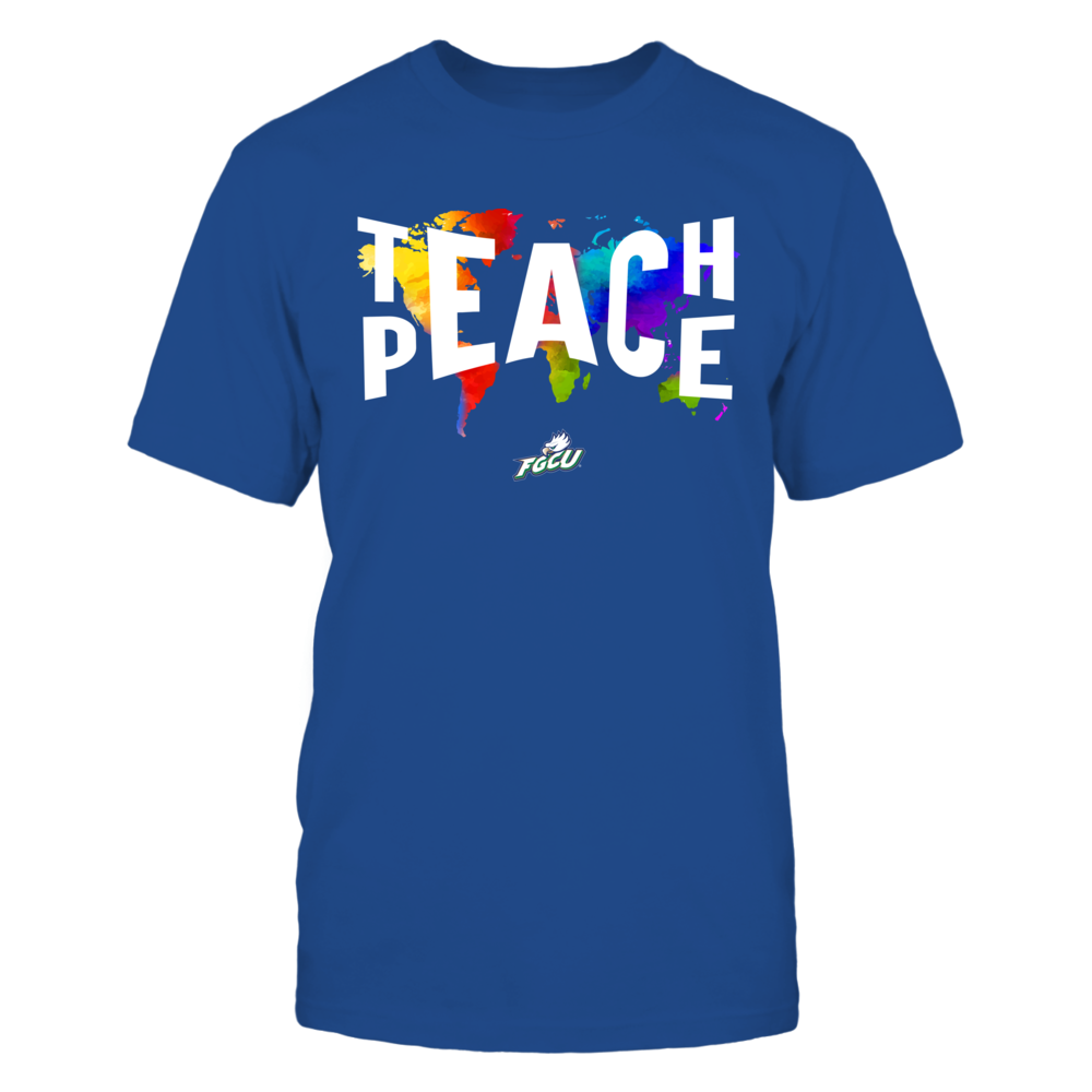 Florida Gulf Coast Eagles - Teach Peace Color Drop Front picture