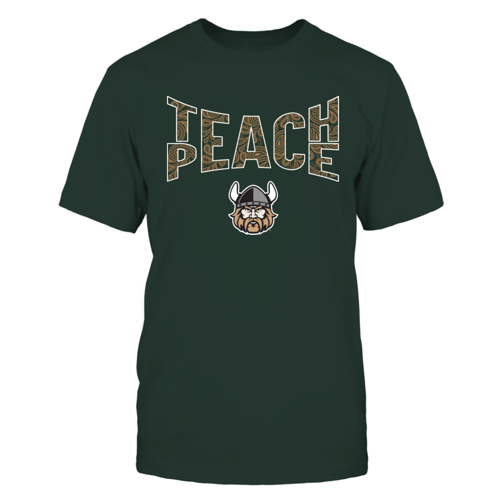 Cleveland State Vikings - Teach Peace Paisley Pattern Front picture