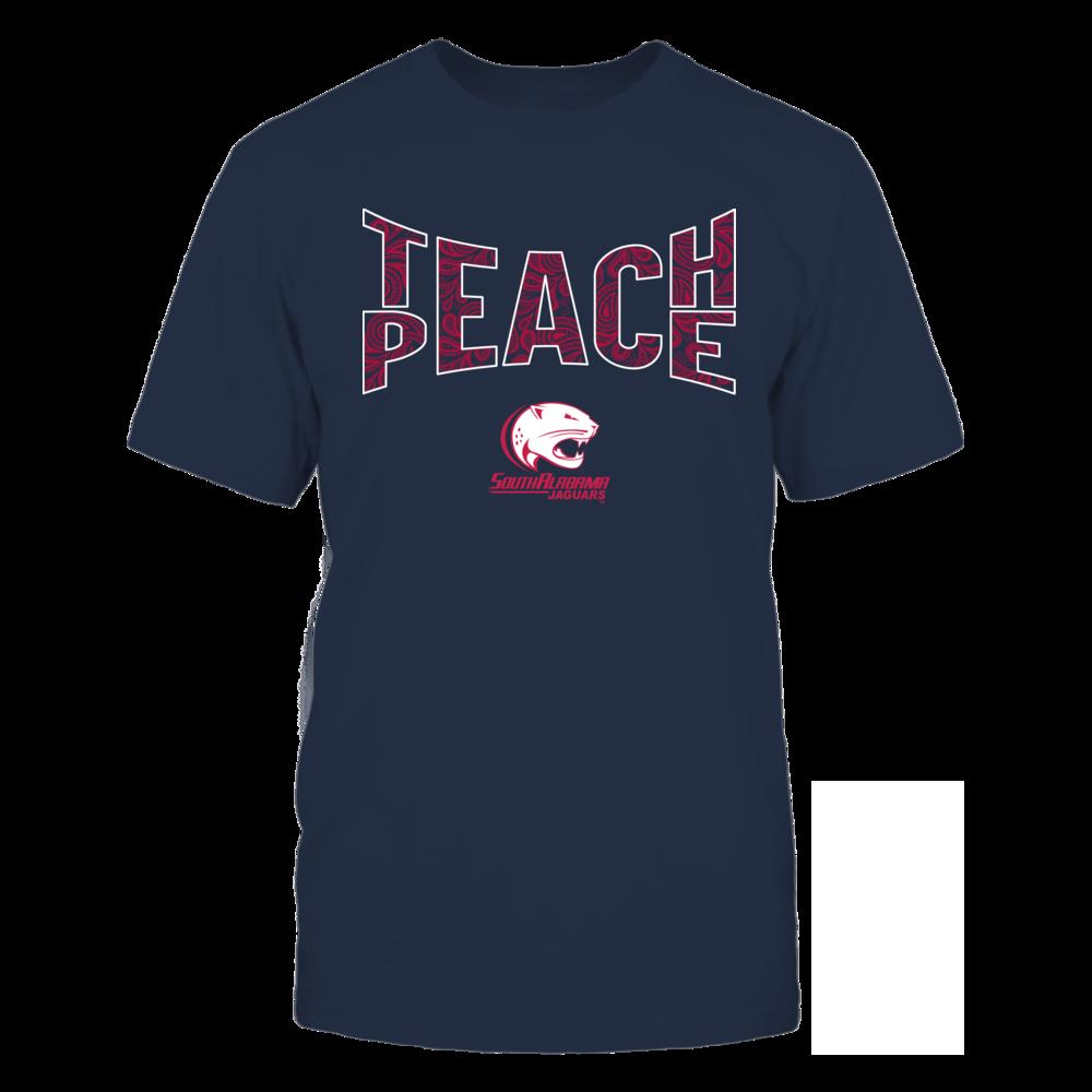 South Alabama Jaguars - Teach Peace Paisley Pattern Front picture