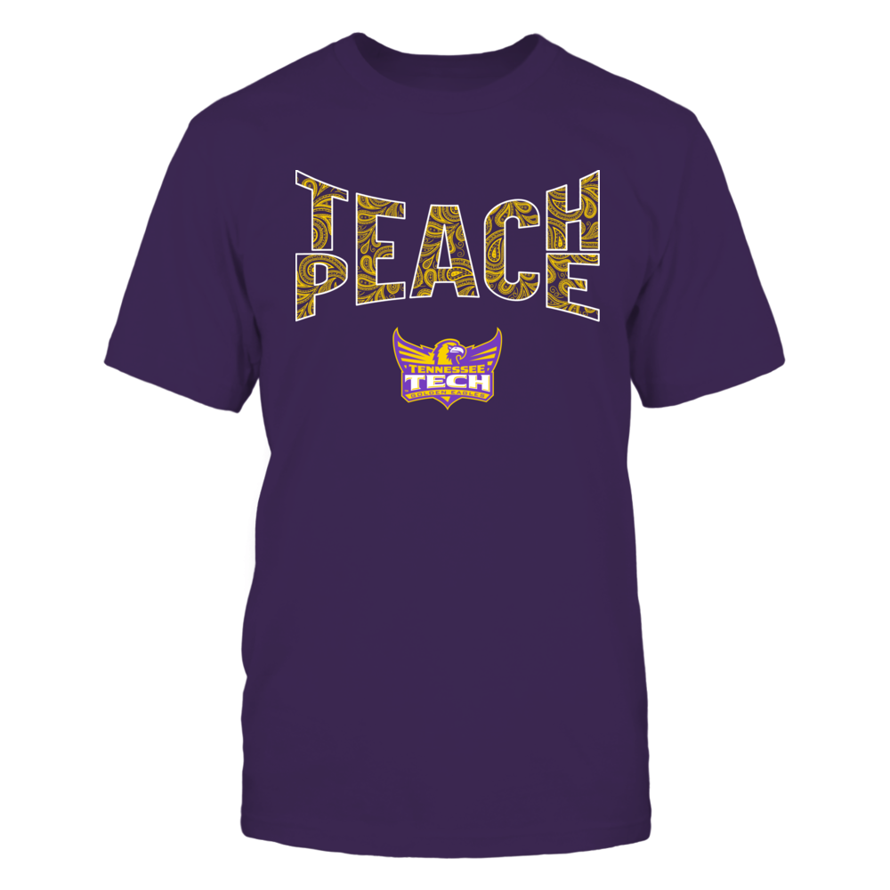 Tennessee Tech Golden Eagles - Teach Peace Paisley Pattern Front picture
