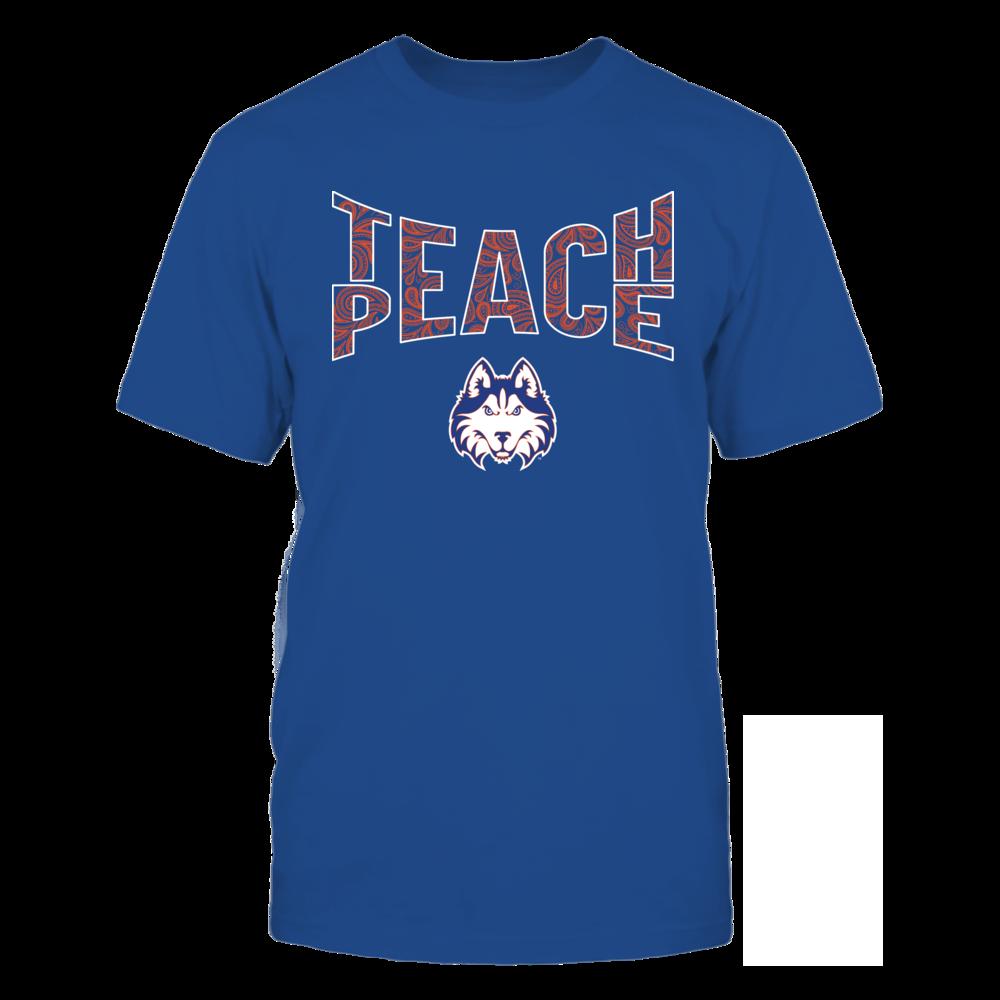 Houston Baptist Huskies - Teach Peace Paisley Pattern Front picture