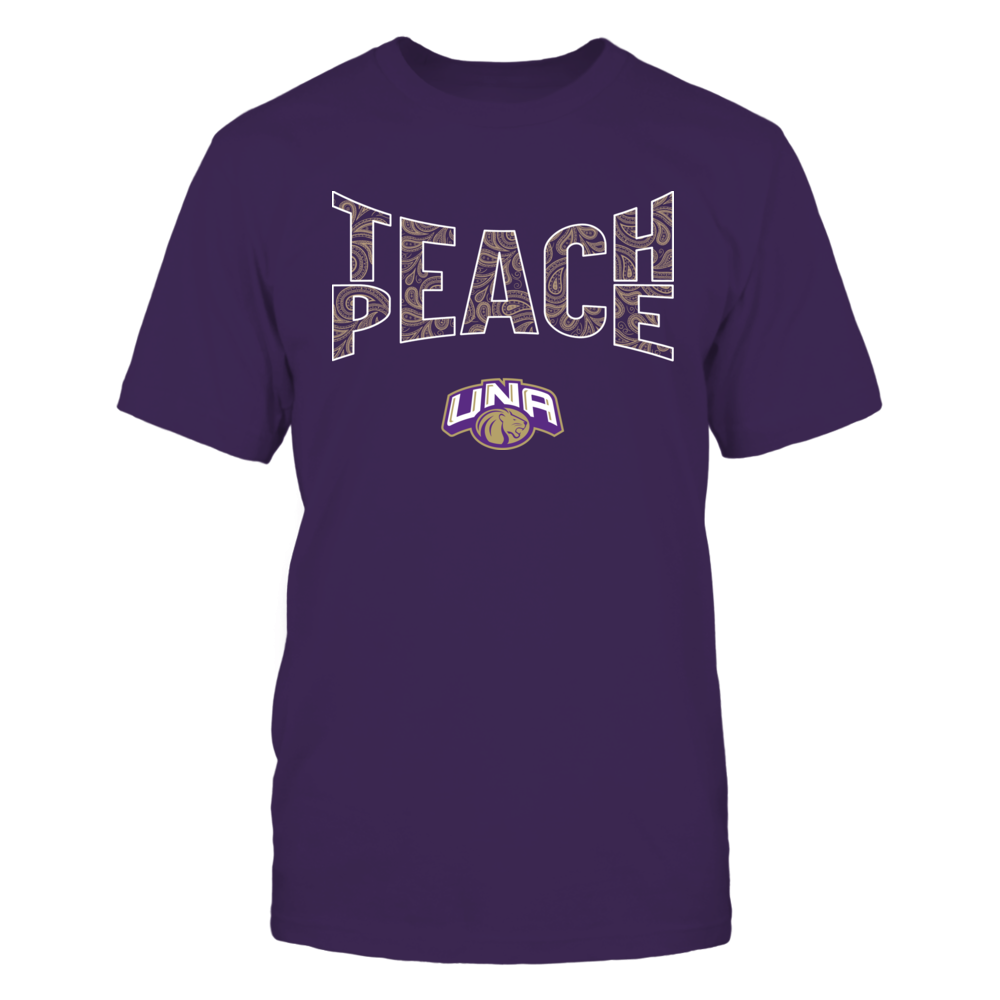 North Alabama Lions - Teach Peace Paisley Pattern Front picture