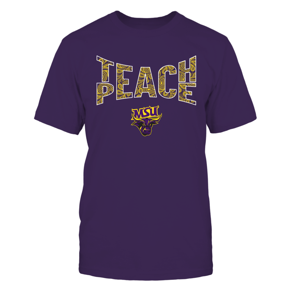 Minnesota State Mavericks - Teach Peace Paisley Pattern Front picture