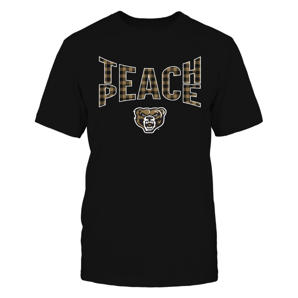 Oakland Golden Grizzlies - Teach Peace Checkered Pattern Front picture