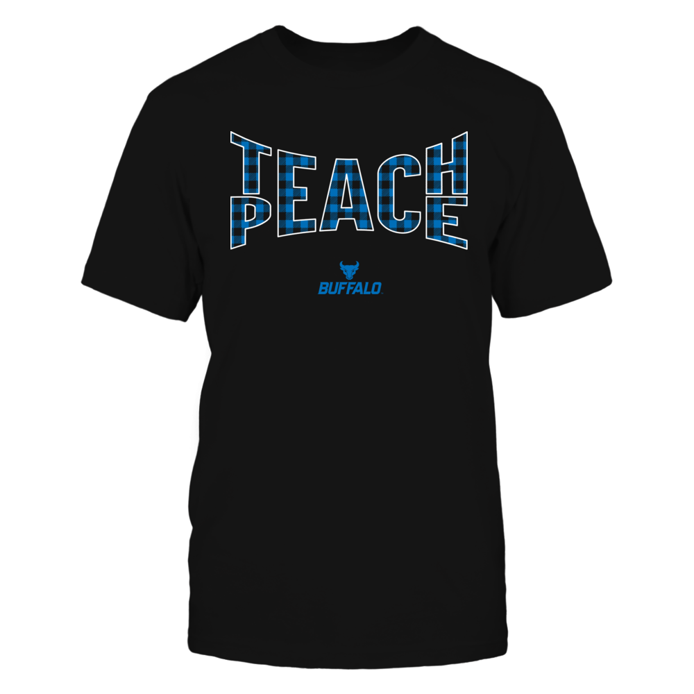 Buffalo Bulls - Teach Peace Checkered Pattern Front picture