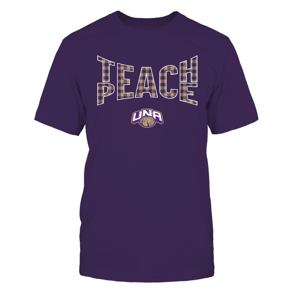 North Alabama Lions - Teach Peace Checkered Pattern Front picture