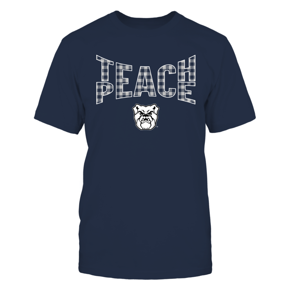 Butler Bulldogs - Teach Peace Checkered Pattern Front picture