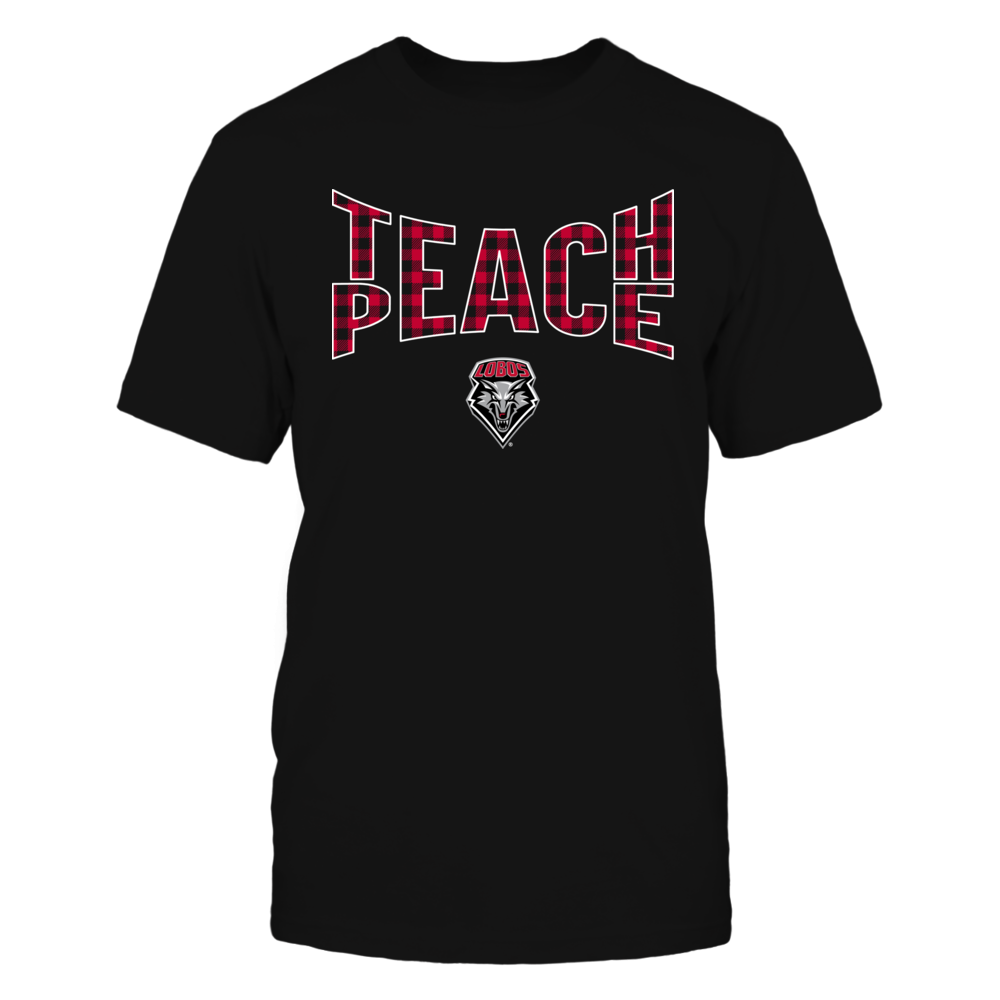 New Mexico Lobos - Teach Peace Checkered Pattern Front picture