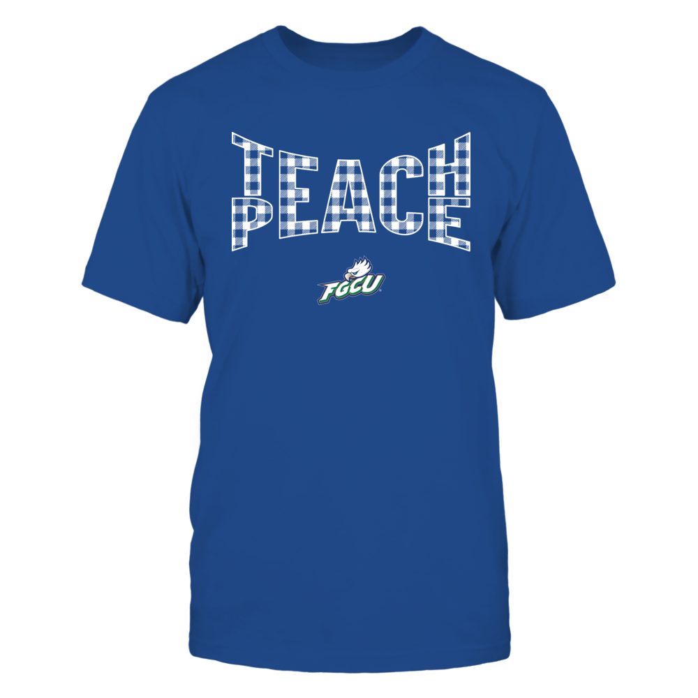 Florida Gulf Coast Eagles - Teach Peace Checkered Pattern Front picture
