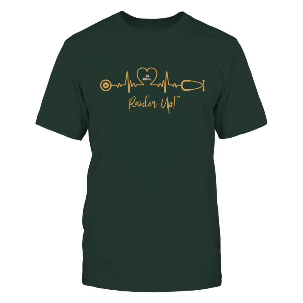 Wright State Raiders - Heart ECG - Slogan Front picture
