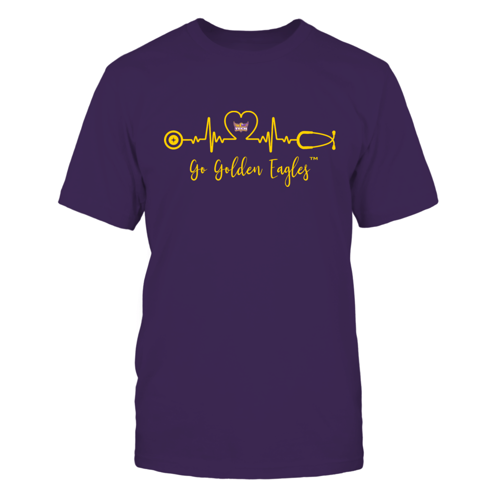 Tennessee Tech Golden Eagles - Heart ECG - Slogan Front picture