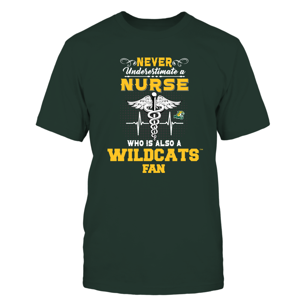 Northern Michigan Wildcats - Never Underestimate Nurse - Team Front picture