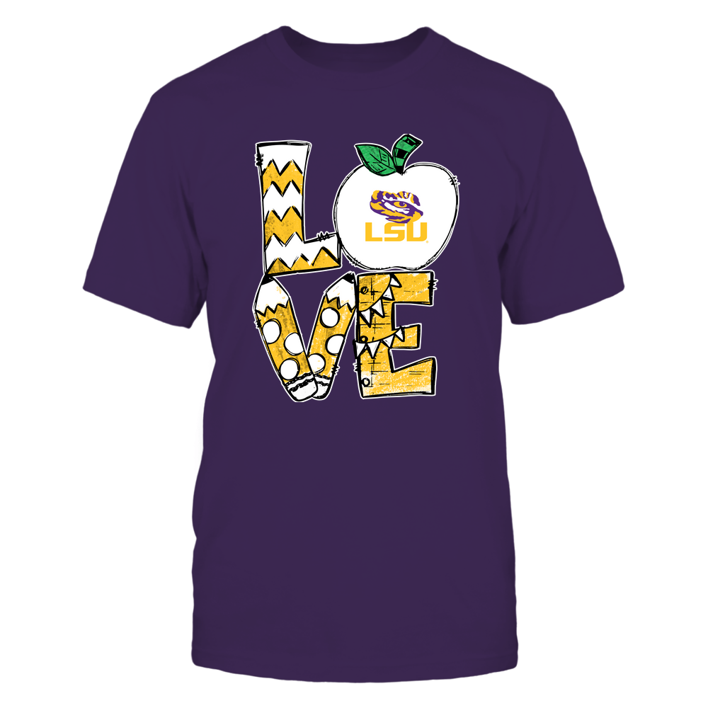 LSU Tigers - Love Teacher Hand Drawn  - IF-IC32-DS27 Front picture